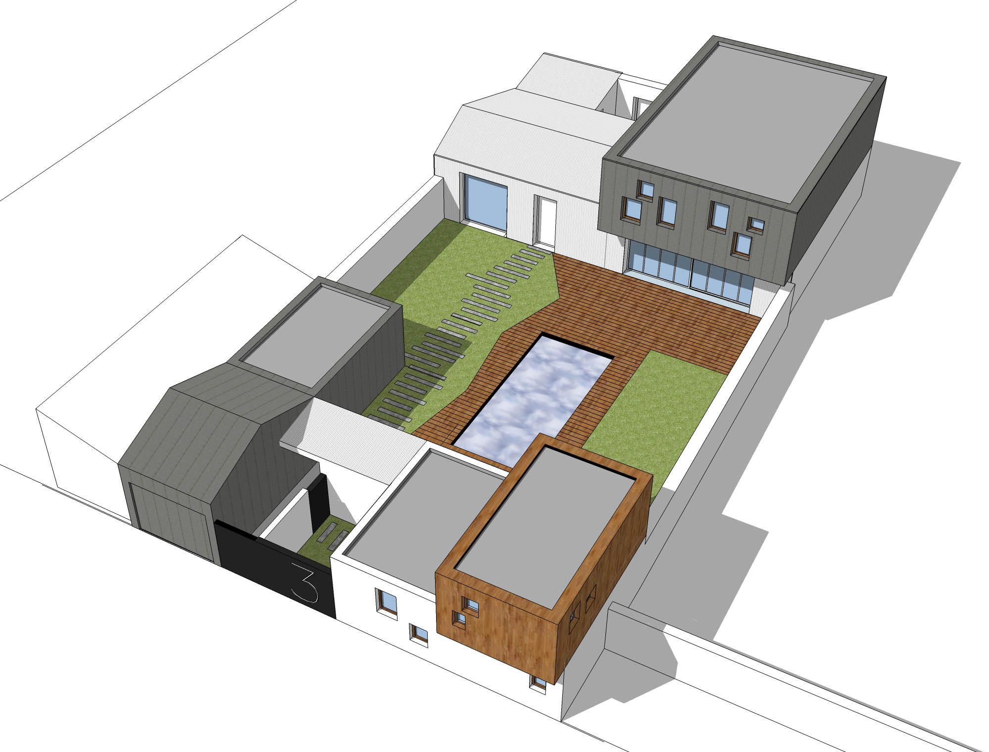 maison la rochelle 17 agence lionel coutier architecte. Black Bedroom Furniture Sets. Home Design Ideas